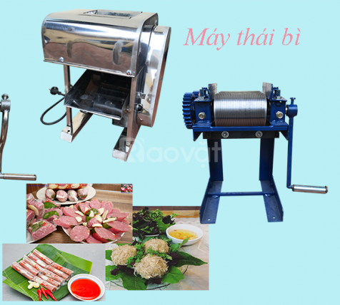 Máy thái bì lợn quay tay, chân sắt - Thiết bị máy Việt
