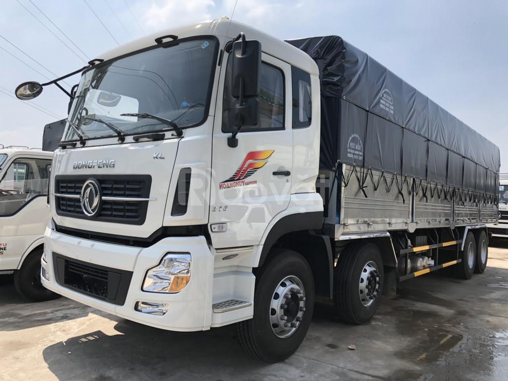 Giá xe tải dongfeng 4 chân ga cơ hỗ trợ trả góp