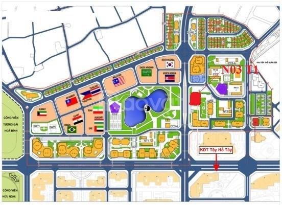 Chung cư ngoại giao đoàn, 3 phòng ngủ tòa N03T1 giá từ 2.7 tỷ