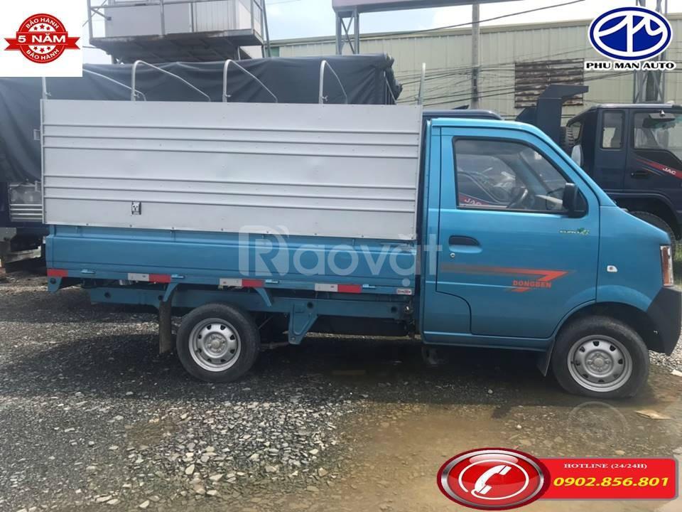 Xe Dongben 900kg thùng dài 2m5 trả trước 30tr giao xe
