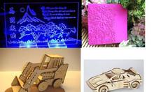 Máy laser cắt khắc gỗ, máy laser 1610 cắt vải nhanh