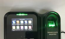 Máy chấm công vân tay/ thẻ Ronald Jack X628 Pro lắp đặt tại TPHCM.