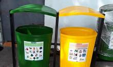 Thùng rác công cộng 3 ngăn, thùng rác phân loại công cộng 3 ngăn.