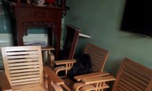 Thanh lý bộ sofa gỗ sồi 7 món