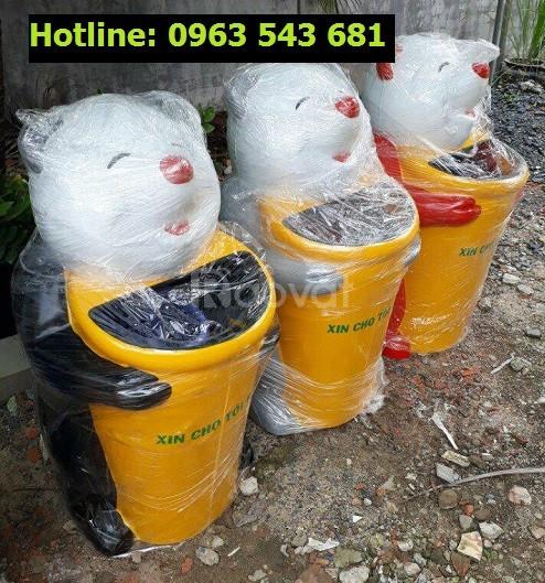 Thùng rác chim cánh cụt, thùng rác hình con cá heo, thùng rác cá chép