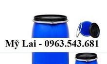 Phuy nhựa 220 lít 2 nắp, phuy nhựa 220 lít nắp mở đựng hóa chất