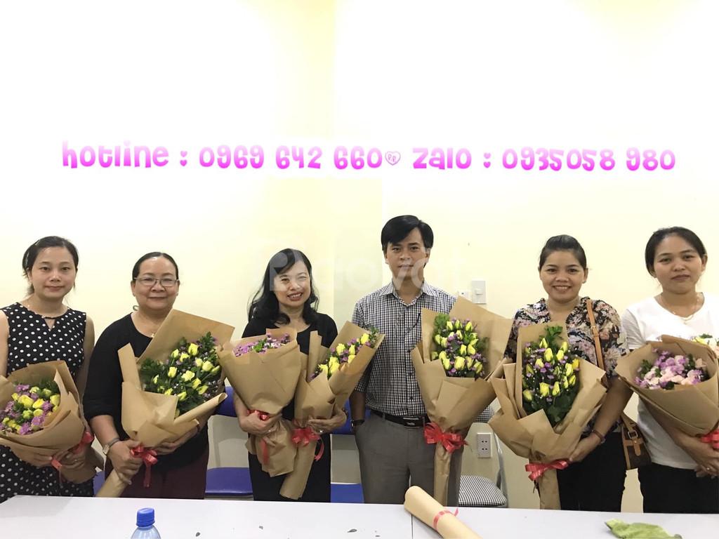 Khai giảng lớp cắm hoa tại HCM