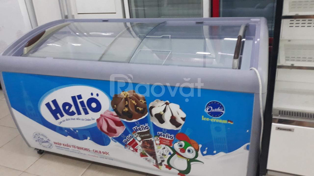 Tủ kem siêu thị dàn lạnh đồng, tủ làm lạnh nhanh