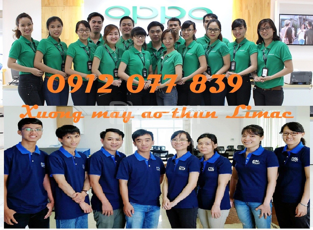 Áo đồng phục cửa hàng vải cá sấu poly thoáng mát tại Bình Tân