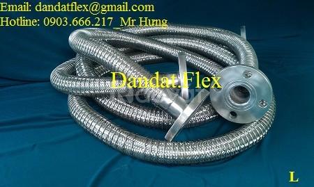 Khớp giãn nở chịu nhiệt đàn hồi, áp max 16 bar, khớp nối mềm inox 304