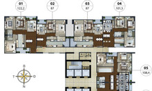 Bán căn hộ 87m2 tòa N01T5 giá tốt