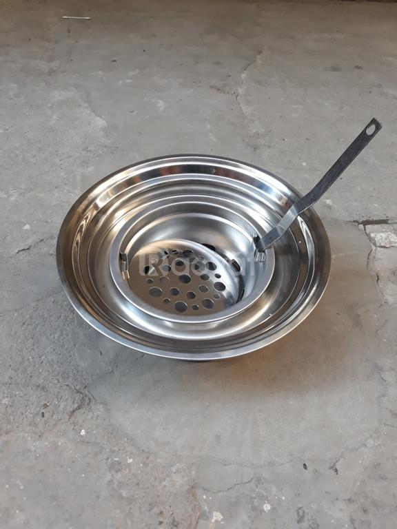 Bếp nướng than hoa inox đặt âm bàn kèm vỉ inox 304  cho quán nướng
