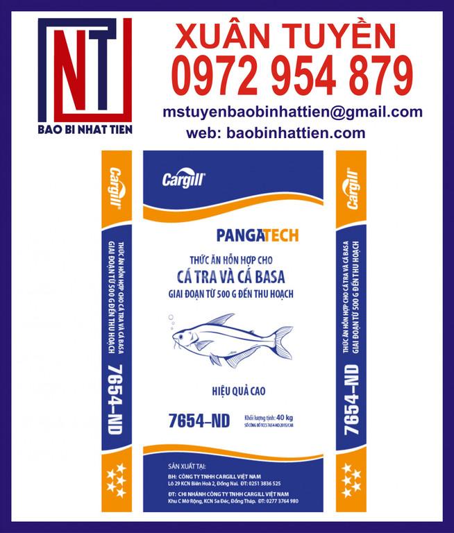 Bao PP dệt in flexo đựng thức ăn nuôi cá