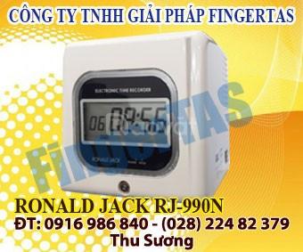 Máy chấm công thẻ giấy rj 990a/n tặng thẻ giá rẻ