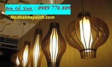 Đèn gỗ trang trí phòng khách, đèn gỗ thả trần