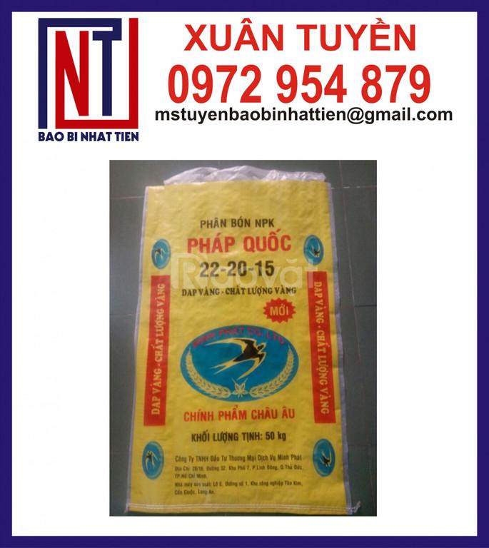 Bao PP màu vàng đựng phân bón, lúa giống, gạo