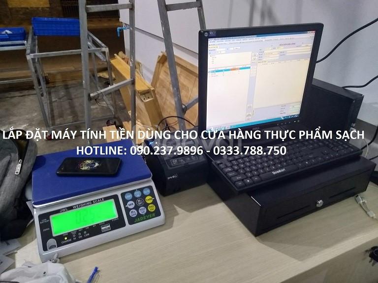 Máy tính tiền cho cửa hàng thực phẩm sạch tại Hưng Yên