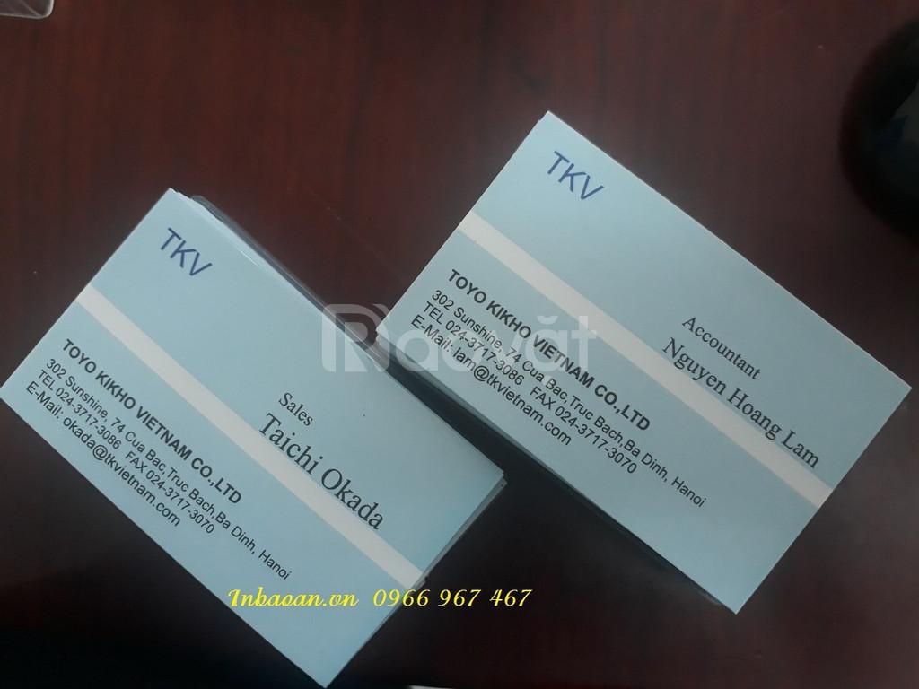 In card giá rẻ, địa chỉ in card visit, in card lấy nhanh