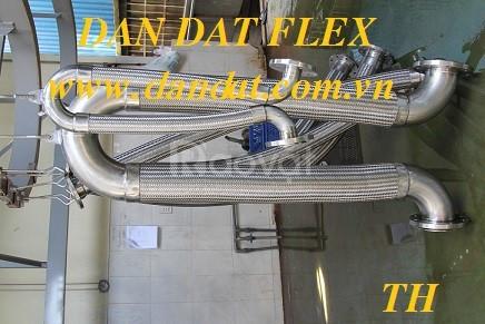 Khớp nối mềm chống rung inox-khớp nối mềm cao su nối bích