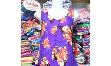 (45-62kg) Đầm ngủ mặc nhà vải tole họa tiết hoa đẹp mát - PN57347