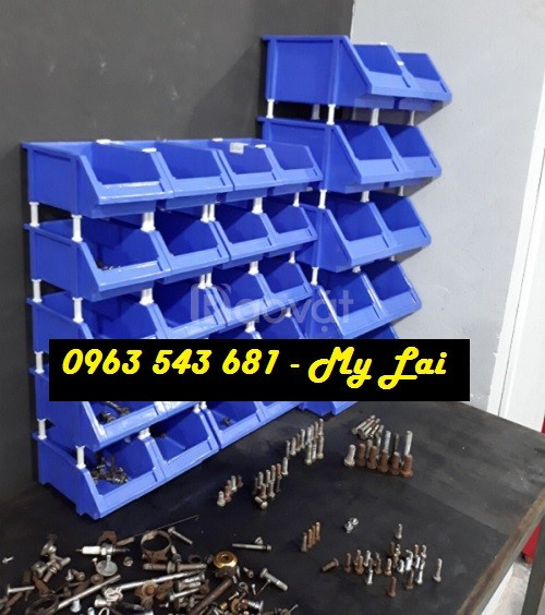 Khay nhựa chồng tầng, khay nhựa xếp tầng, kệ đựng bu lông ốc vít