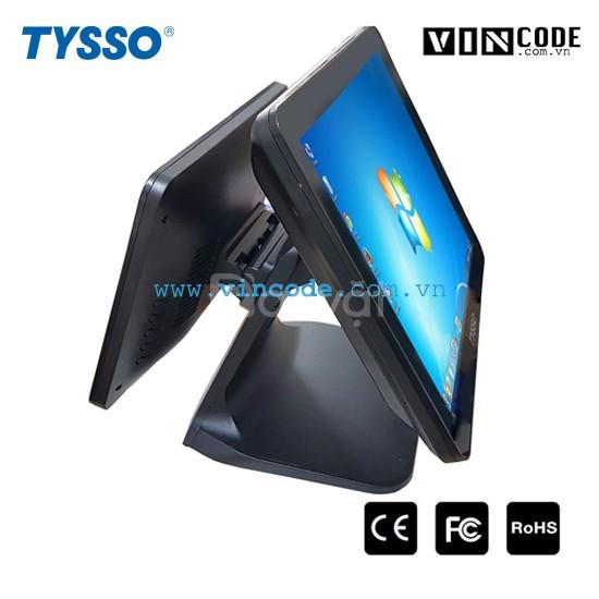 Tysso ts1717 (core i5) máy pos bán hàng 2 màn hình cao cấp