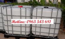 Thùng nhựa IBC 1000 lít, bồn nhựa IBC 1000 lít đựng hóa chất