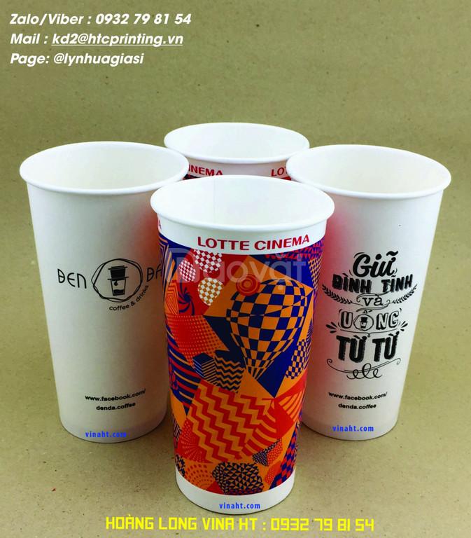 Sản xuất và in ấn ly giấy, in logo ly giấy