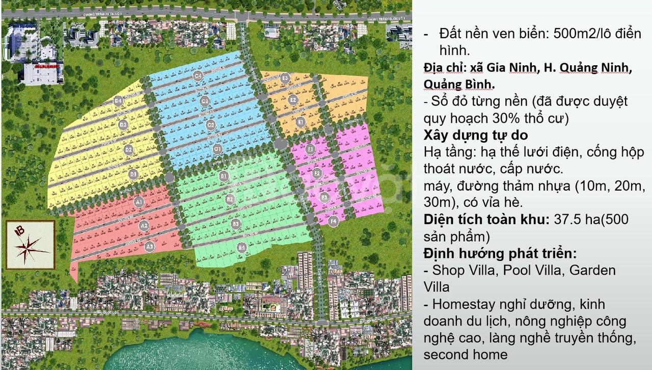 SandaSea - Đất nền Quảng Bình, giá chỉ từ 1,2tr/m2, sổ đỏ từng lô