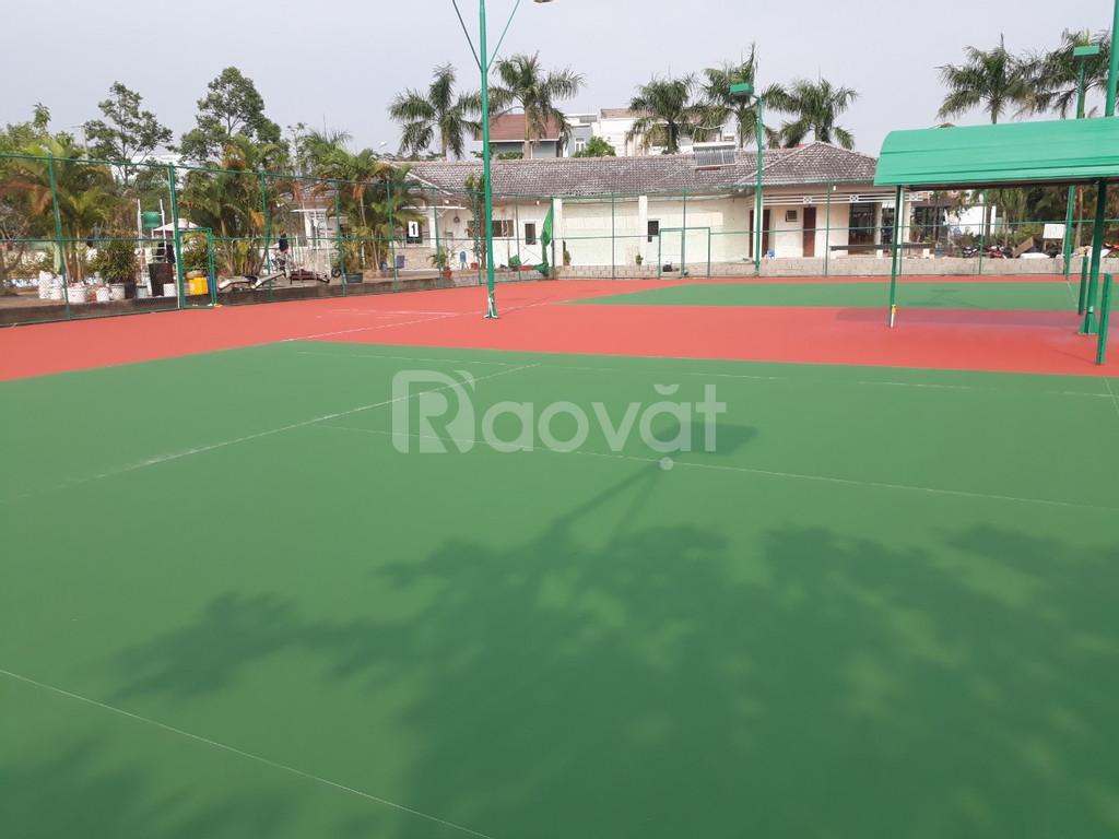 Đơn vị chuyên thi công sơn sân Tennis chất lượng giá tốt ở Bình Định