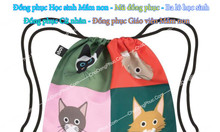 Túi vải bố, túi vải chống thấm, túi đựng đồ bẩn cho học sinh mầm non