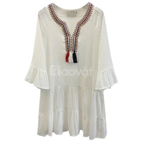 Váy đầm trắng suông bigsize