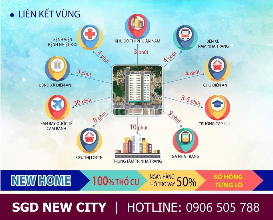 Bán đất nền Diên An, Diên Khánh, cách biển Nha Trang 12km, 10tr/m2