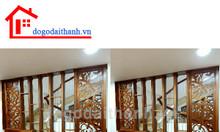 Thi công các vách ngăn gỗ hoa văn trang trí cnc Lưu Văn Lang