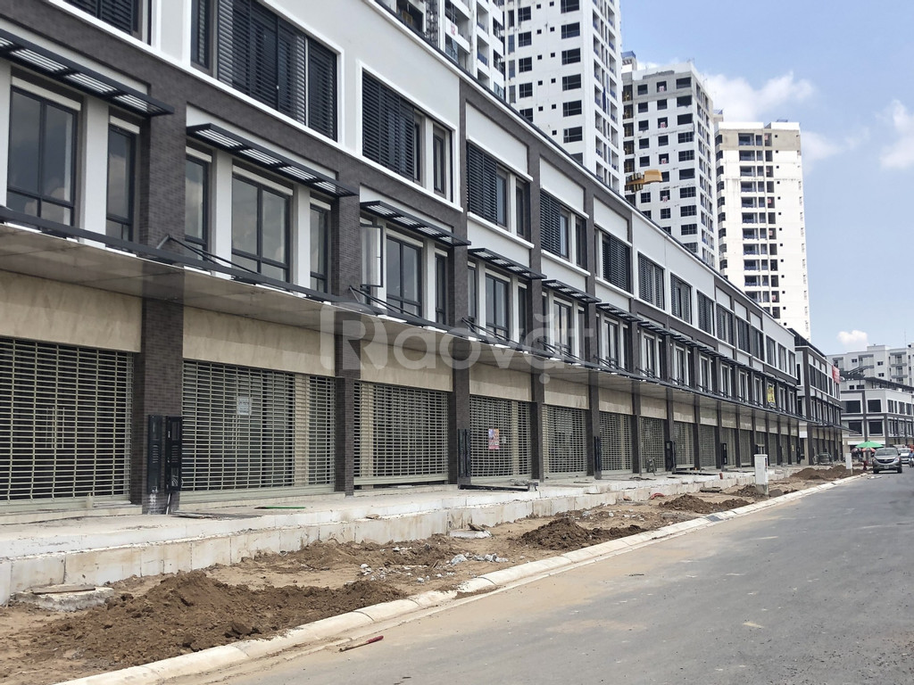 Bán nhà phố shophouse 2 mặt tiền, diện tích 6x20m, khu Mizuki Park