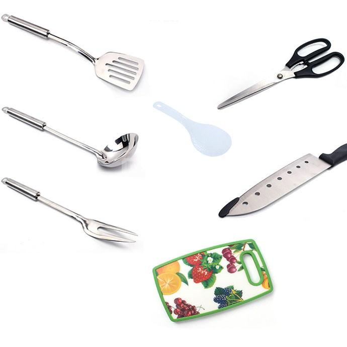 Bộ dụng cụ nấu ăn dã ngoại đa năng 7 món cao cấp FT2412 (ảnh 5)