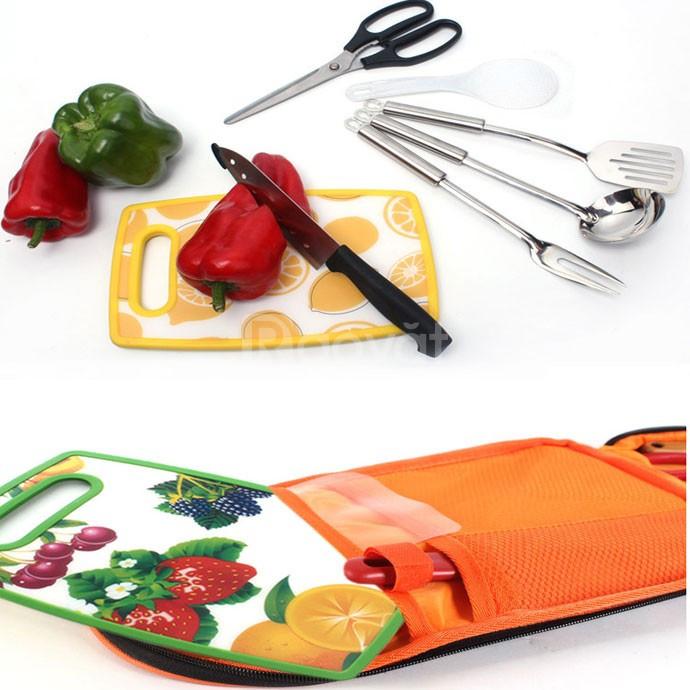 Bộ dụng cụ nấu ăn dã ngoại đa năng 7 món cao cấp FT2412 (ảnh 6)