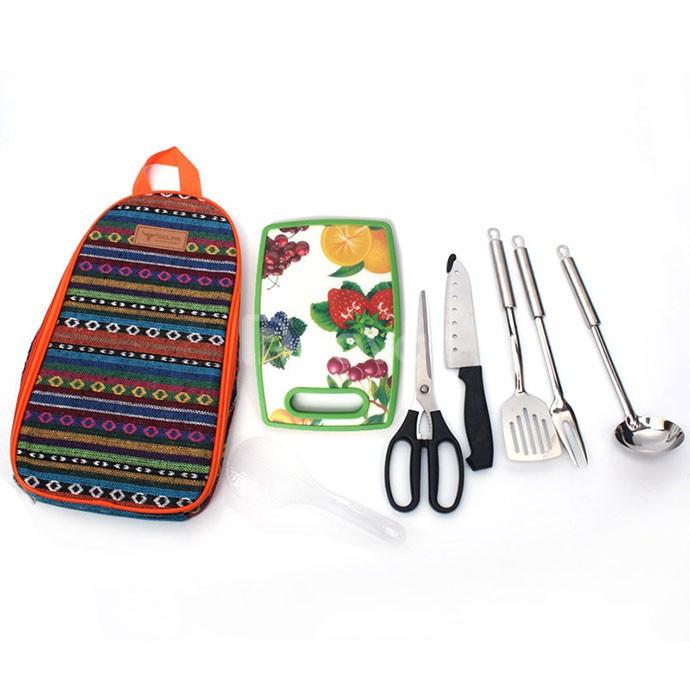 Bộ dụng cụ nấu ăn dã ngoại đa năng 7 món cao cấp FT2412 (ảnh 1)