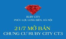 Mở bán 20 căn hộ đẹp dự án Ruby city CT3 Phúc Lợi, Long Biên