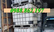 Thùng nhựa 1000l cũ, thùng nhựa nuôi cá 1000l, tank nhựa IBC, tank
