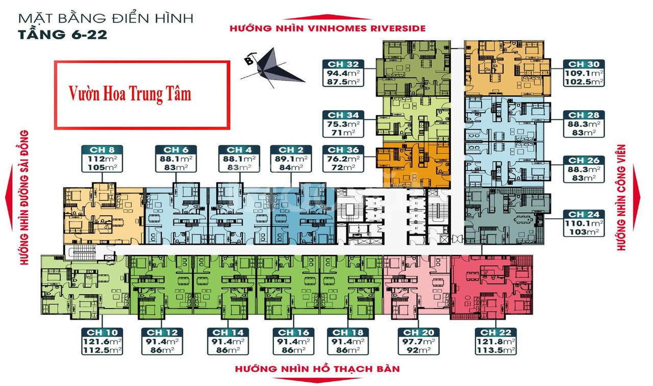 Chung cư 25tr/m2 Sài Đồng Long Biên đối diện Vin Riverside