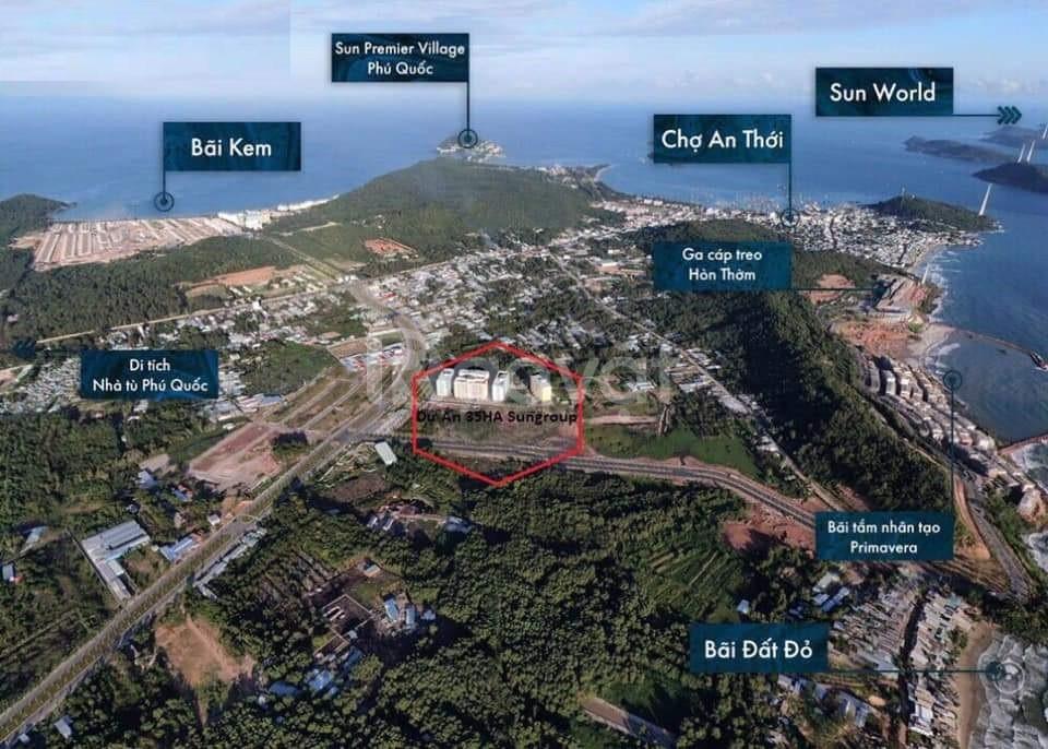 Sun Grand City Nam Phú Quốc nằm tại trung tâm Nam đảo Phú Quốc