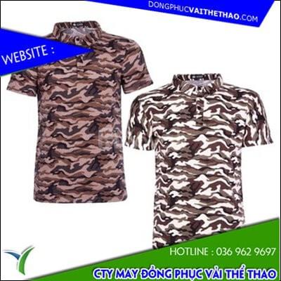 Đặt may áo đồng phục rằn ri vải mè