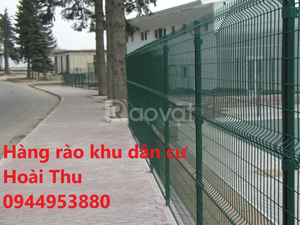 Hàng rào mạ kẽm, hàng rào chấn sóng trên thân
