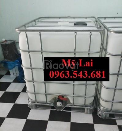 Bồn nhựa cũ 1000 lít đựng hóa chất giá rẻ thùng nhựa cũ 1000lít giá rẻ