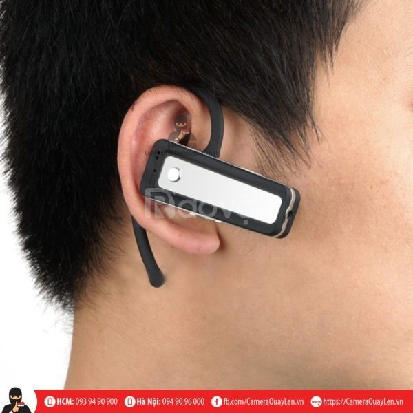 Camera gắn vào người tai nghe bluetooth ngụy trang quay lén