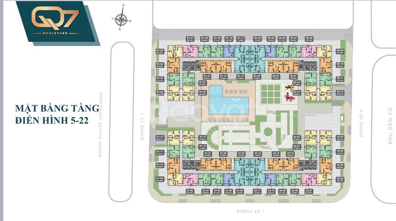 Q7 Boulevard - Chỉ từ 42tr/m2 đã sở hữu căn hộ liền kề Phú Mỹ Hưng Q7