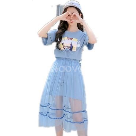 Vấy đàm công sở bigsize, váy đầm thun kiểu bigsize