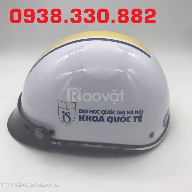Làm nón bảo hiểm giá rẻ làm quà tặng quảng cáo