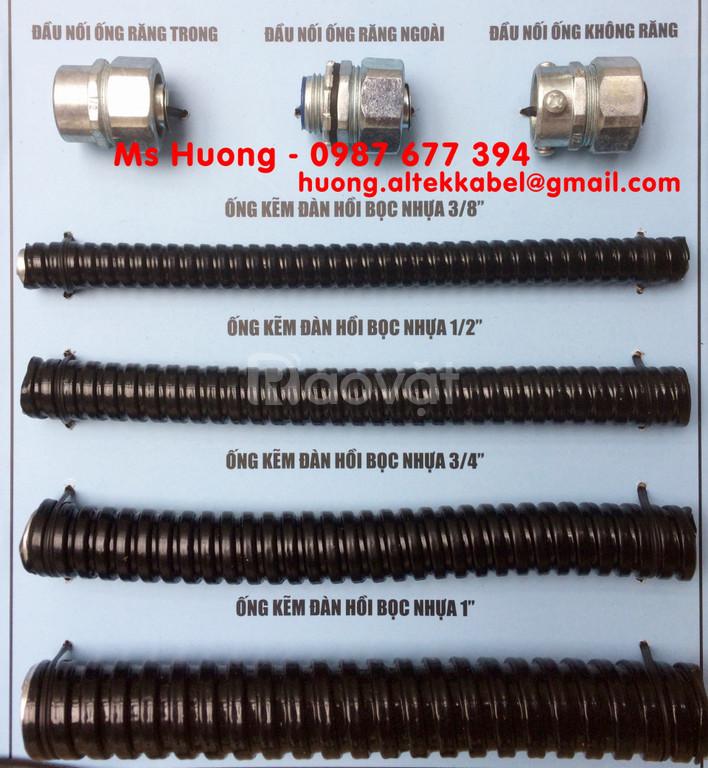 Ống ruột gà - Đầu nối ống ruột gà với ống thép trơn